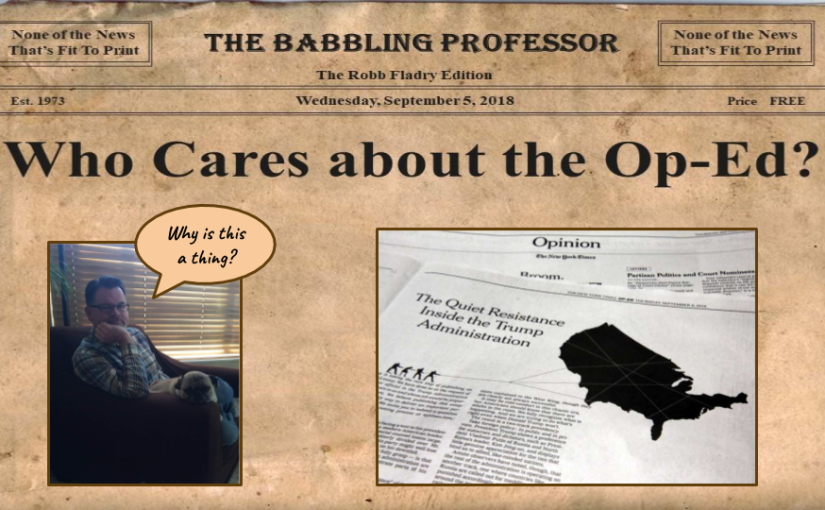 Podcast: Who Cares About NYT Op-Ed?